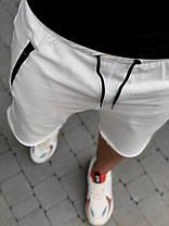 Мужские шорты белого цвета с карманами на замках, фото 2