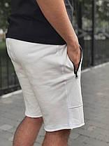 Мужские шорты белого цвета с карманами на замках, фото 3