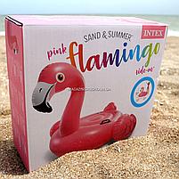 Матрас надувной Intex Розовый Фламинго (Flamingo) арт.57558. Отлично подходит для отдыха на море, в бассейне, фото 2