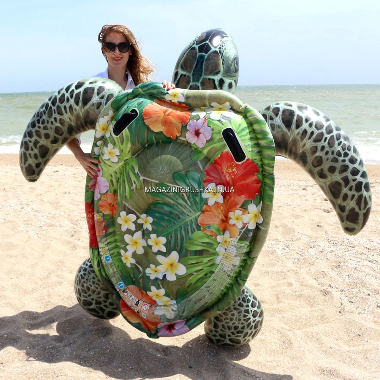 Матрас надувной Intex Черепаха тропическая, 191х170 см (57555)