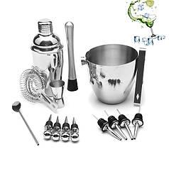 Набір для бару Youchen МС-16 з 16 предметів з відром для приготування коктейлів охолодження