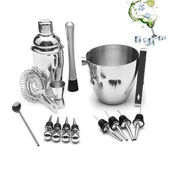 Набор для бара Youchen МС-16 из 16 предметов с ведром для приготовления коктейлей барный инвентарь