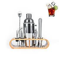 Подарочный набор для бара Youchen MC-T12 из 12 предметов с подставкой барные инструменты