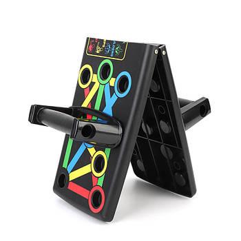 Складная платформа для отжиманий Push Up Rack Board MJ-040 Black доска упор от пола тренажер для пресса