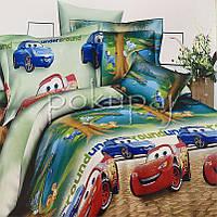 Детское постельное белье полуторное односпальное TM Krispol 150*220 тачки underground 167294 с