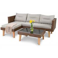 Набор садовой мебели di Volio Imola Коричневый уличная мебель для дома, сада, пляжа, бара и ресторанов