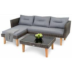 Набор садовой мебели di Volio Imola Темно-серый уличная мебель для дома, сада, пляжа, бара и ресторанов