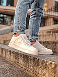 Кроссовки женские Nike Air Force 1 в стиле найк форсы белые (Реплика ААА+), фото 3