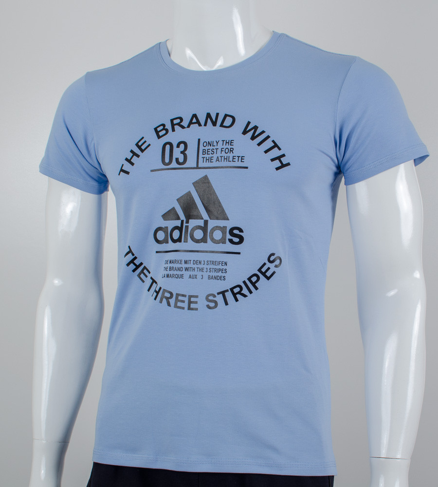 Футболка мужская Adidas (2056м), Голубой