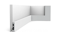 Плинтус напольный Orac Decor Axxent SX157,(6.6x1.3x200 см),лепной декор из дюрополимера