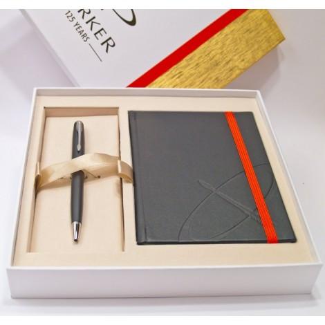 Набор Parker SONNET 08 Matte Black CT BP в подар. упаковке (шариковая ручка и блокнот) 84 432Cb
