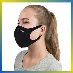 Многоразовая защитная угольная маска Ulka черная