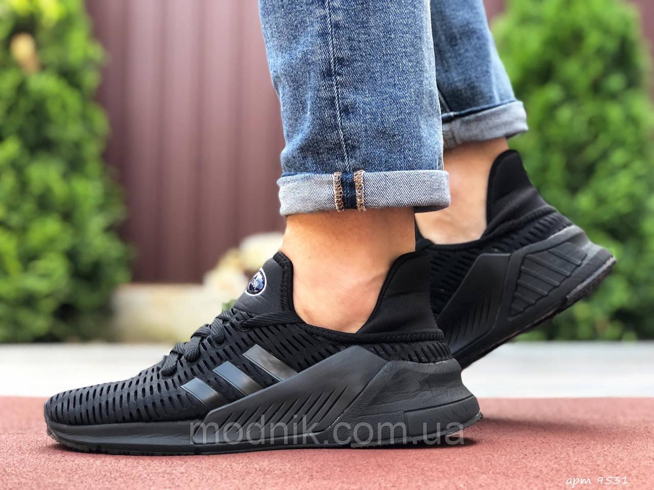 Мужские кроссовки Adidas Climacool (черные) 9531