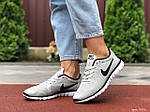 Женские кроссовки Nike Free Run 3.0 (светло-серые) 9538, фото 4