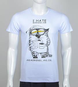 Футболка мужская Утренний кот (2064м), Белый