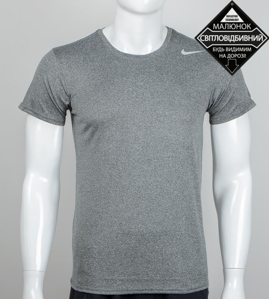 Футболка мужская мулине светоотражающая Nike (2069м), Серый