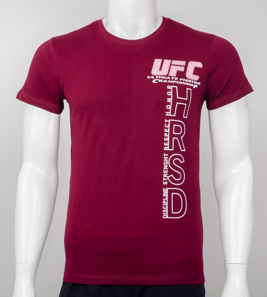 Футболка мужская UFC HRSD (2001м), Бордовый