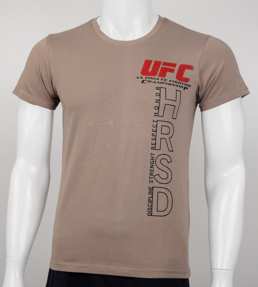 Футболка мужская UFC HRSD (2001м), Кофе