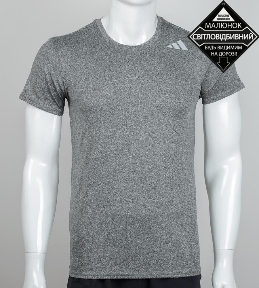Футболка мужская мулине светоотражающая Adidas (2070м), Серый