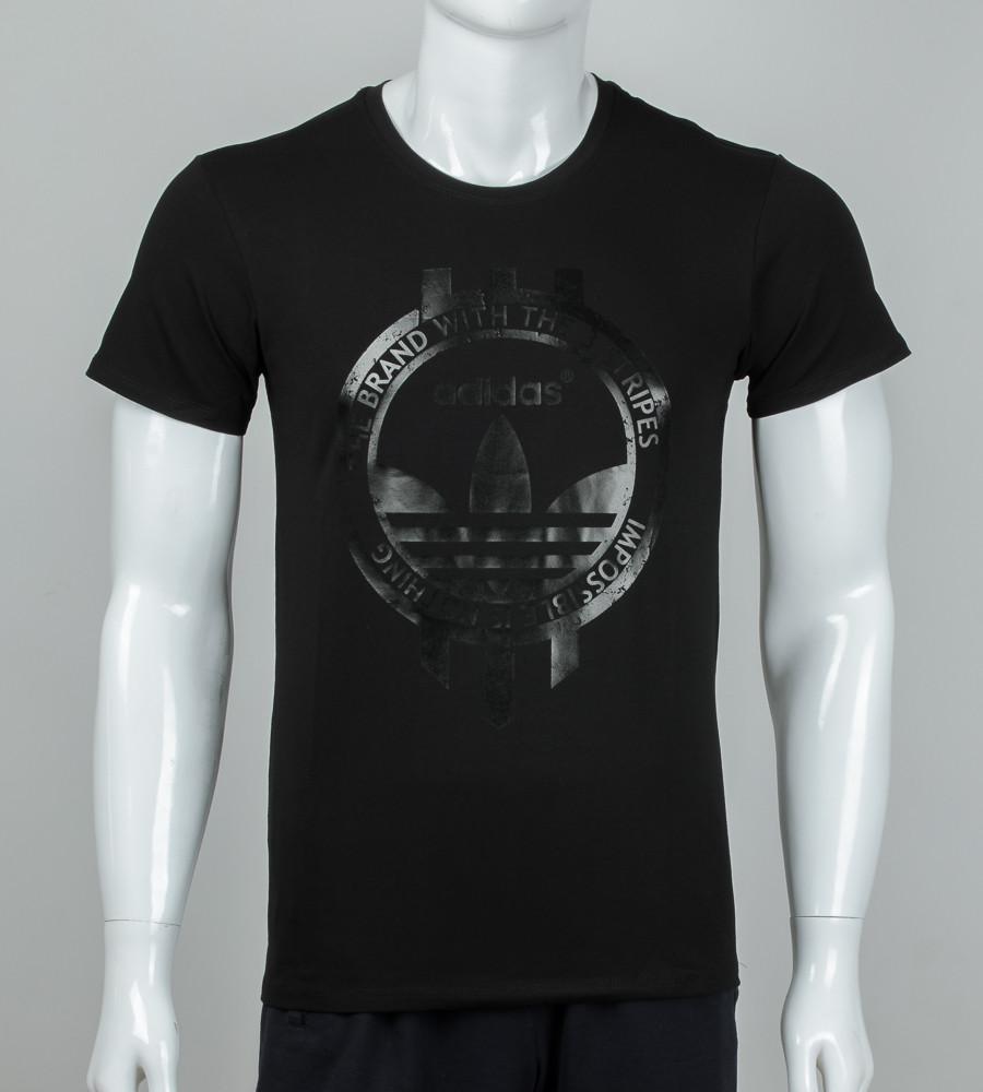 Футболка мужская Adidas (2074м), Черный