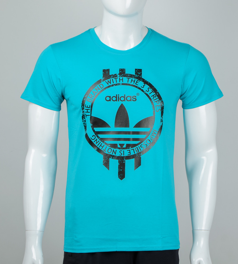 Футболка мужская Adidas (2074м), Бирюзовый