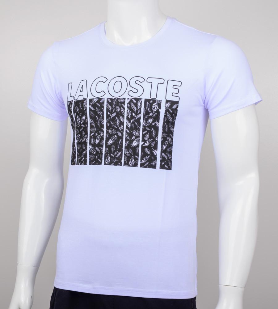 Футболка мужская LACOSTE (2005м), Белый