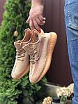 Мужские кроссовки Yeezy Boost (светло-коралловые) 9556, фото 3