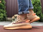 Мужские кроссовки Yeezy Boost (светло-коралловые) 9556, фото 4