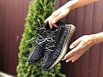 Женские кроссовки Yeezy Boost (черные) 9559, фото 2