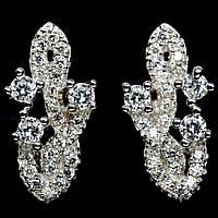 Срібні сережки з цирконом, 517СЦ