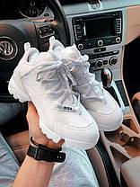 Женские кроссовки белого цвета Диор, фото 2