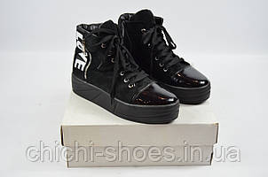 Ботинки женские демисезонные Terra Grande 7111 чёрные замша (последний 39 размер)
