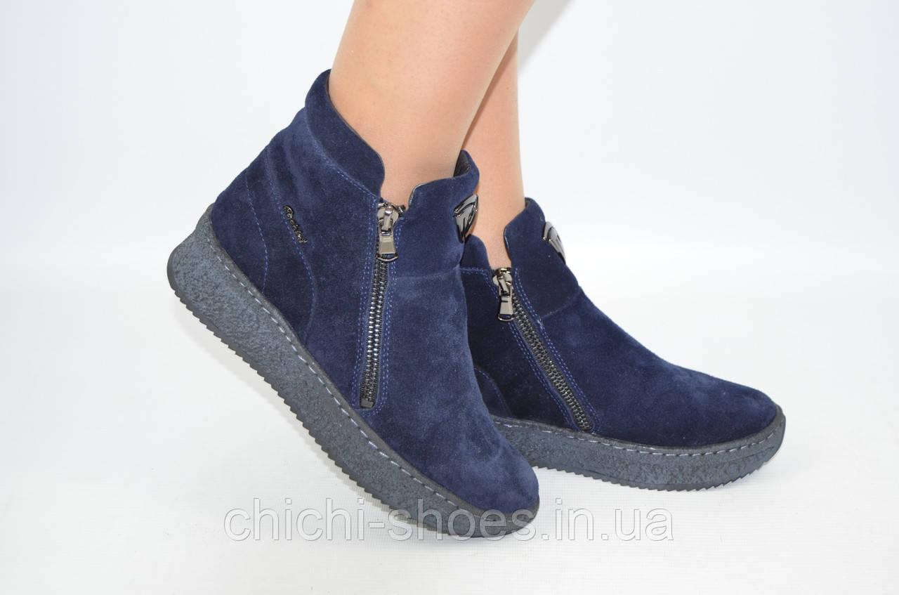 Ботинки женские зимние Carlo Pachini 4-2578-22 синие замша