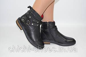 Ботинки женские зимние Carlo Pachini 4-2582-1-11 чёрные кожа размеры 36,37