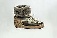 Ботинки женские зимние Kluchini 3924-1 серые кожа, фото 1
