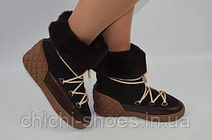 Ботинки женские зимние Kluchini 3924 коричневые кожа