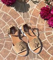 Женские летние сандалии-босоножки бежевого цвета Mkrafvt Honey 0534 Beige