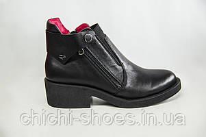 Ботинки женские демисезонные Carlo Pachini 3-4476-11 чёрные кожа