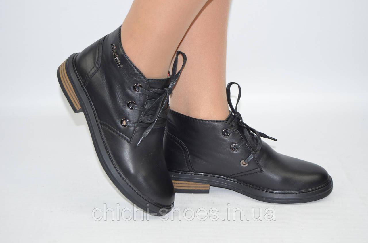 Ботинки женские демисезонные Carlo Pachini 3-2581-11 чёрные кожа (последний 36 размер)