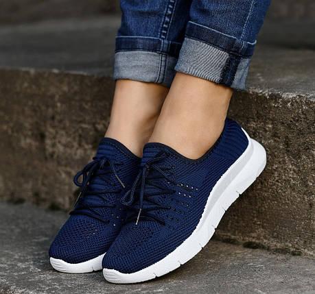 Летние синие женские кроссовки из вентилируемого текстиля GIPANIS 40 р. - 25 см (1203603192), фото 2