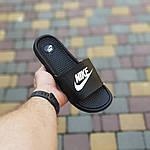 Мужские летние массажные шлепанцы Nike (черно-белые) 40034, фото 2