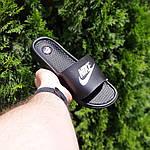 Мужские летние массажные шлепанцы Nike (черно-белые) 40034, фото 6