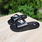 Мужские летние массажные шлепанцы Nike (черно-белые) 40034, фото 7