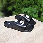 Мужские летние массажные шлепанцы Nike (черно-белые) 40034, фото 8