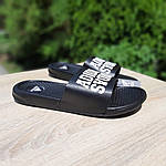 Мужские летние массажные шлепанцы Adidas (черные) 40035, фото 9