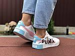 Жіночі кросівки Puma Cali (біло-рожеві з блакитним) 9526, фото 2