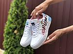 Жіночі кросівки Puma Cali (біло-рожеві з блакитним) 9526, фото 3