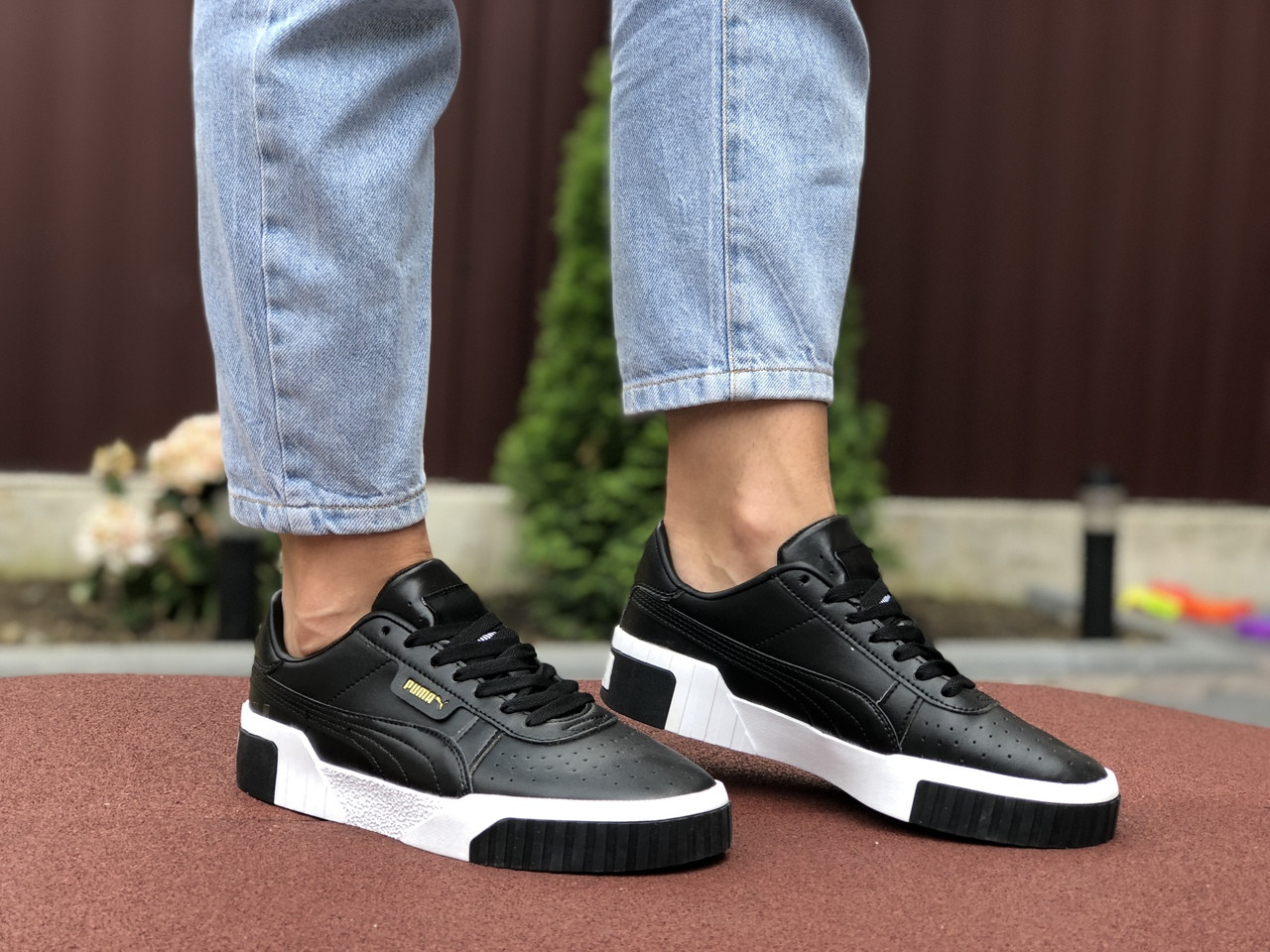 Женские кроссовки Puma Cali (черные) 9527