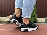 Женские кроссовки Puma Cali (черные) 9527, фото 3