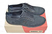 Туфли мужские Konors 870-3-1 чёрные нубук на шнурках, фото 1